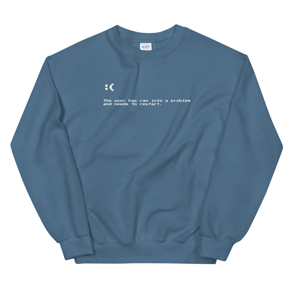 Blue Screen of Death Unisex Sweatshirts