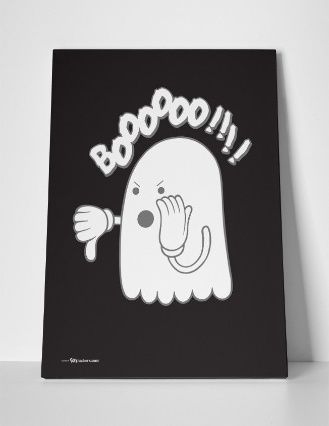 Boo or Booing Funny Ghost Canvas