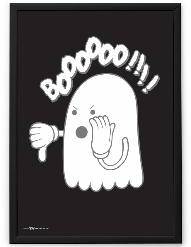 Boo or Booing Funny Ghost Poster
