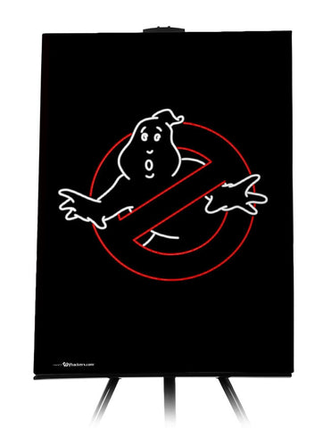 Neon Ghostbusters Canvas