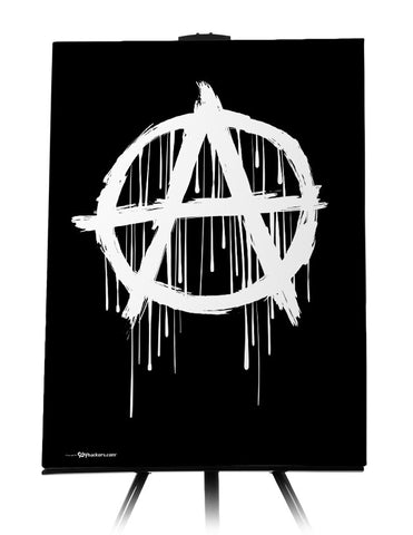 Canvas - Anarchy Symbol  - 1