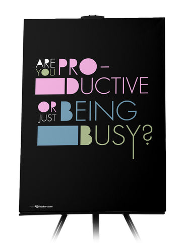 Are You Productive or Just Being Busy Canvas