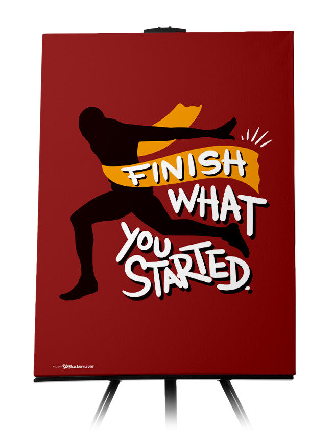 Canvas - Finish what you started.  - 1