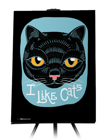 Canvas - I Like Cats  - 1