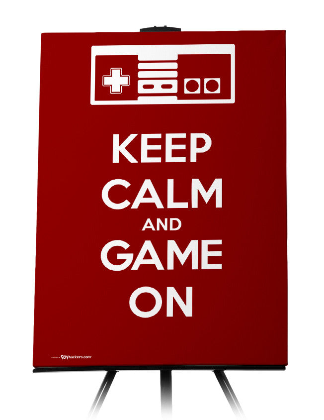 Canvas - Keep Calm and Game On  - 1