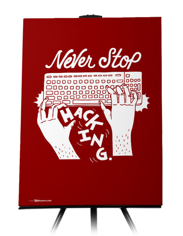 Canvas - Never stop hacking.  - 1