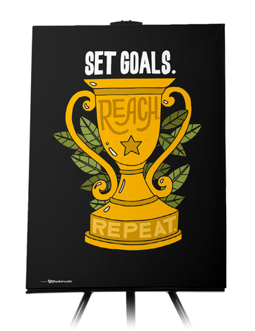 Canvas - Set goals. Reach. Repeat.  - 1