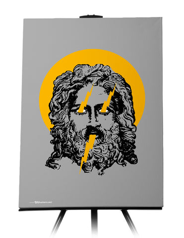 Zeus God of Thunder Canvas