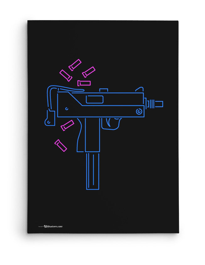 Canvas - Neon UZI  - 2
