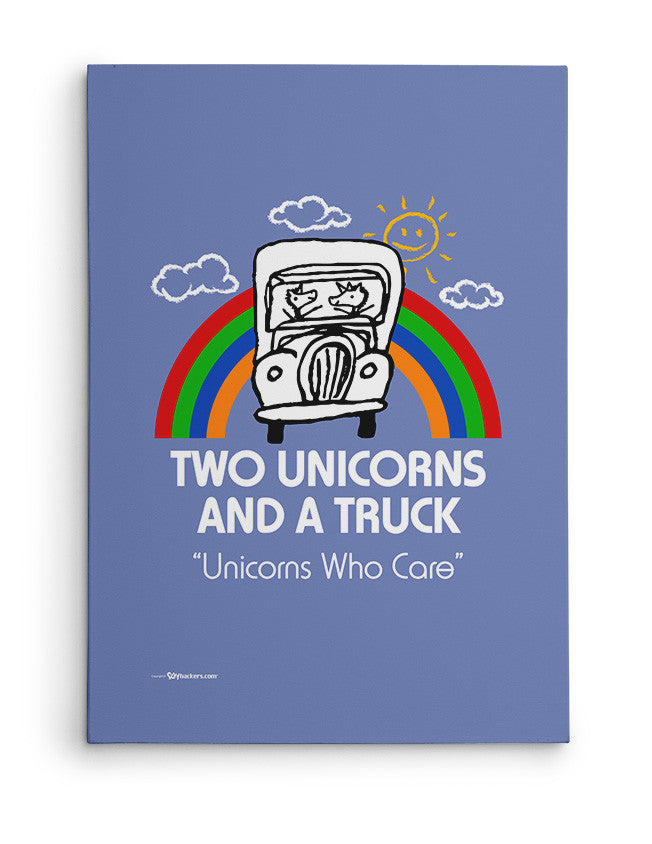 Canvas - Two Unicorns and A Truck  - 2