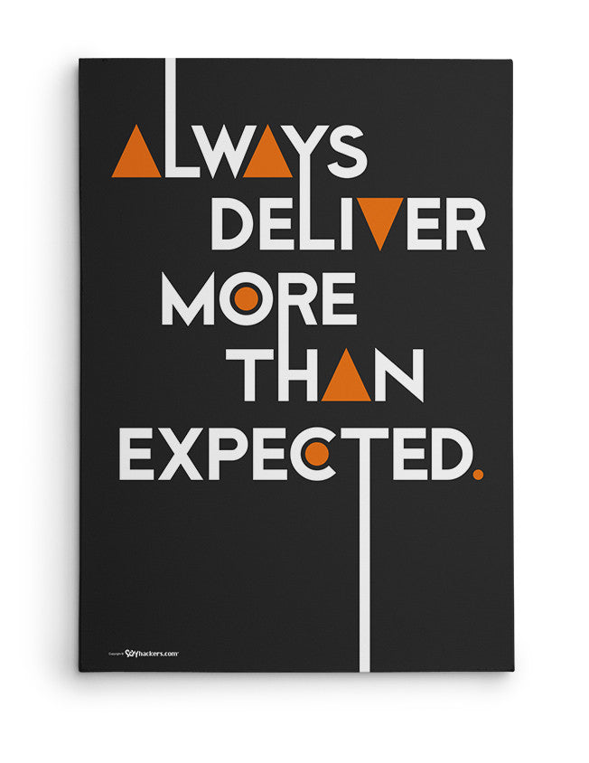 Canvas - Always deliver more than expected.  - 2