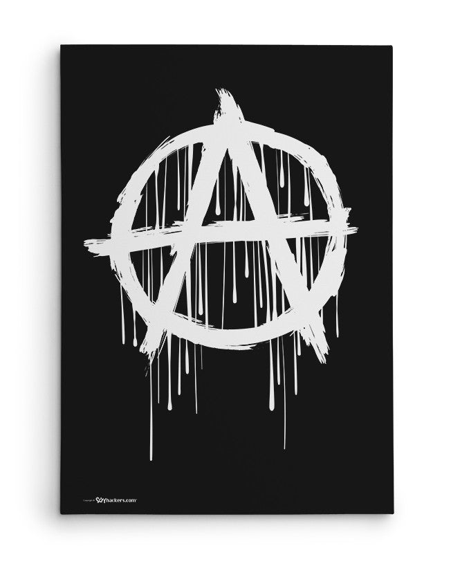 Canvas - Anarchy Symbol  - 2