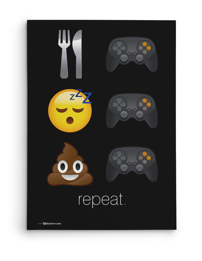 Canvas - Eat Game. Sleep Game. Poop Game. Repeat.  - 2