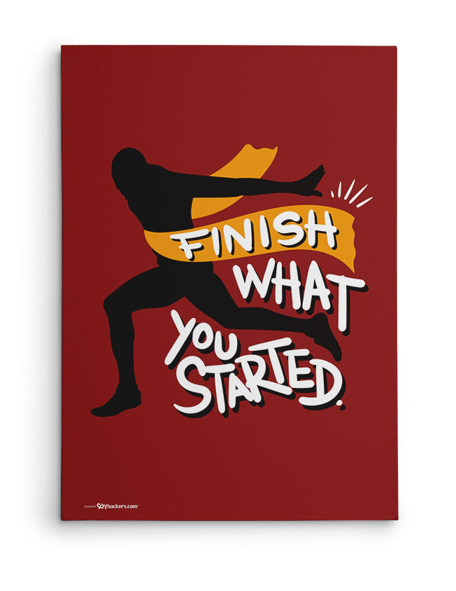Canvas - Finish what you started.  - 2