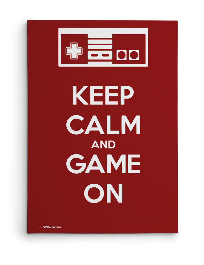 Canvas - Keep Calm and Game On  - 2
