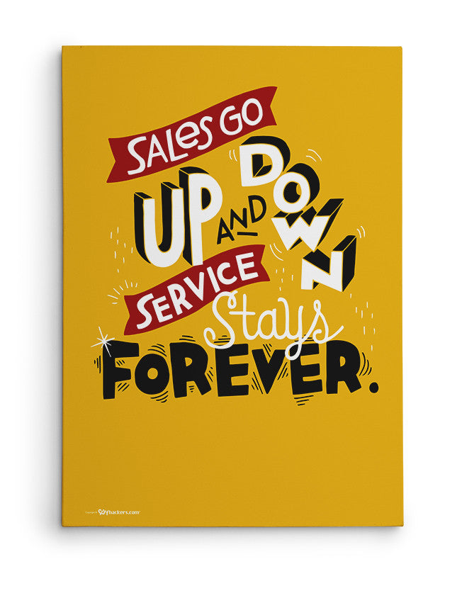 Canvas - Sales go up and down, service stays forever.  - 2