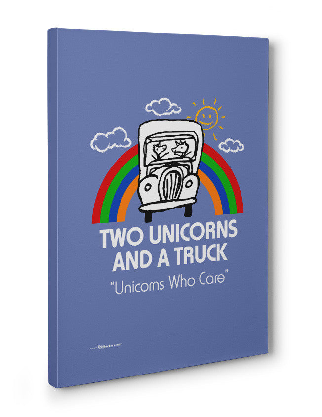 Canvas - Two Unicorns and A Truck  - 3