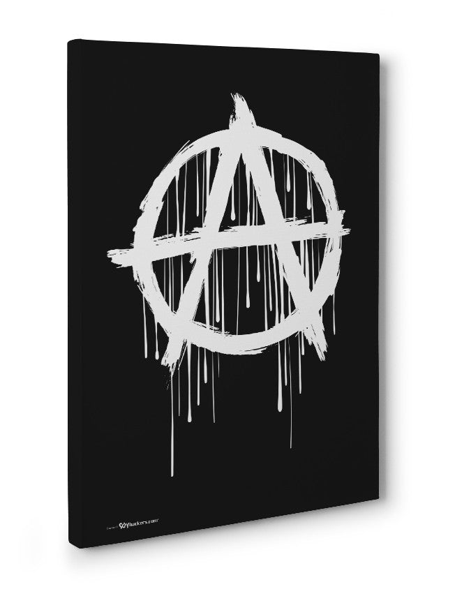 Canvas - Anarchy Symbol  - 3