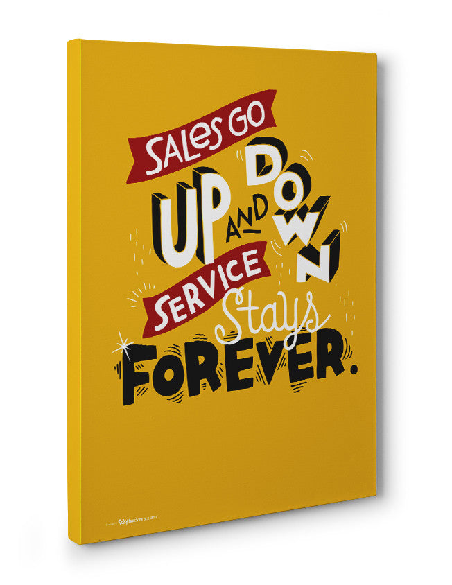 Canvas - Sales go up and down, service stays forever.  - 3