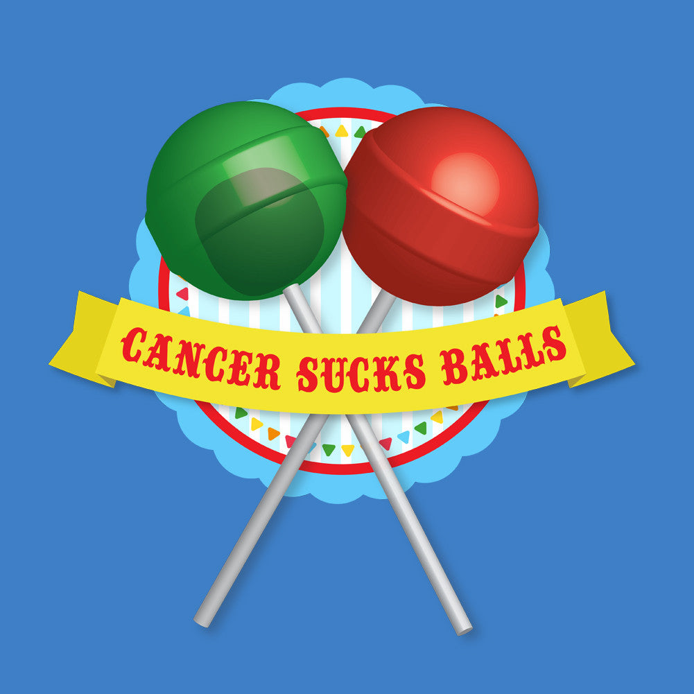 Cancer Sucks Balls Unisex T-Shirt by Sexy Hackers