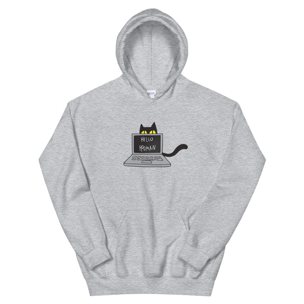 Cats Work on Computers Unisex Hoodies