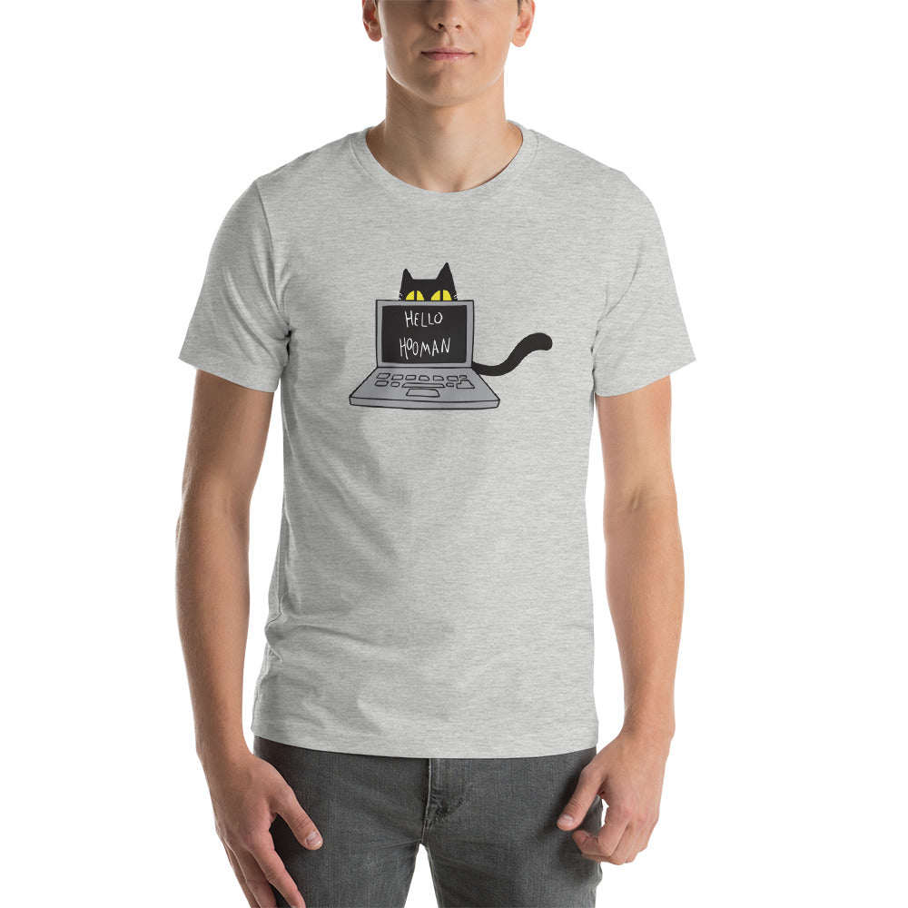 Cats Work on Computers Unisex T-shirt