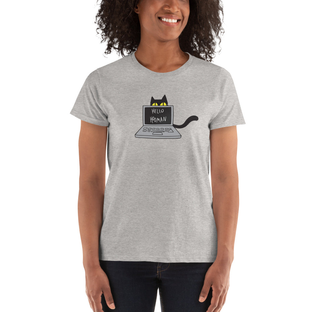 Cats Work on Computers Ladies Ultra Cotton T-shirt