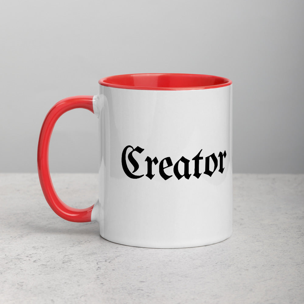 Creator Coffee White Ceramic Mug with Color Inside