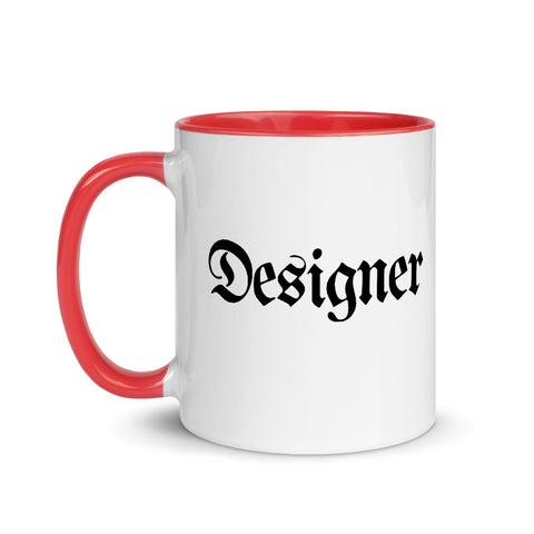 Designer Coffee White Ceramic Mug with Color Inside