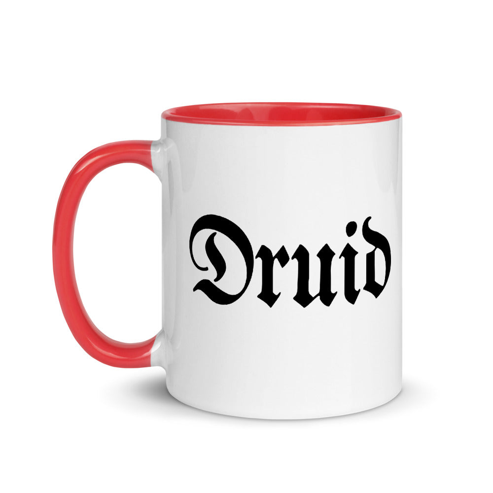 Druid White Ceramic Mug with Color Inside
