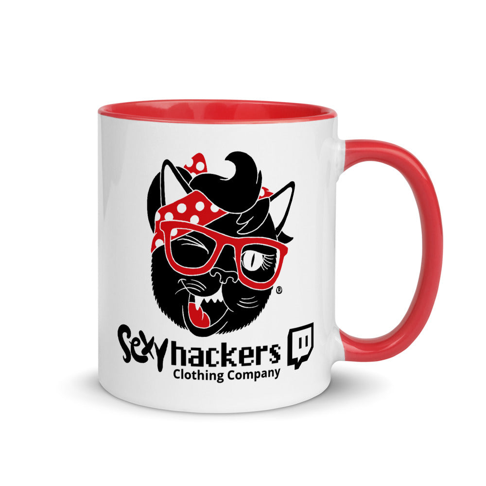 Hater White Ceramic Mug with Color Inside
