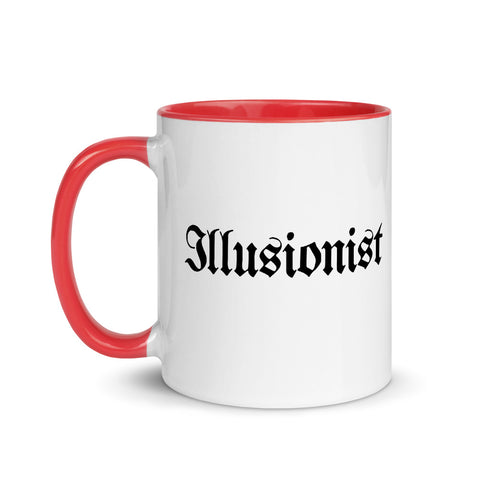 Illusionist White Ceramic Mug with Color Inside