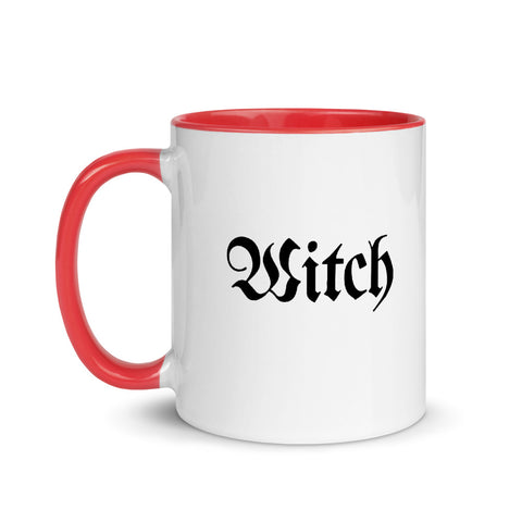Witch White Ceramic Mug with Color Inside