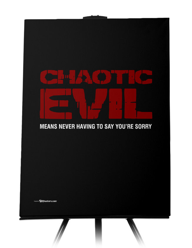 Chaotic Evil Alignment Canvas
