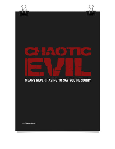 Chaotic Evil Poster