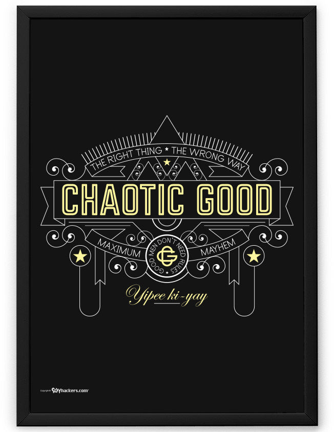 Chaotic Good Alignment Poster