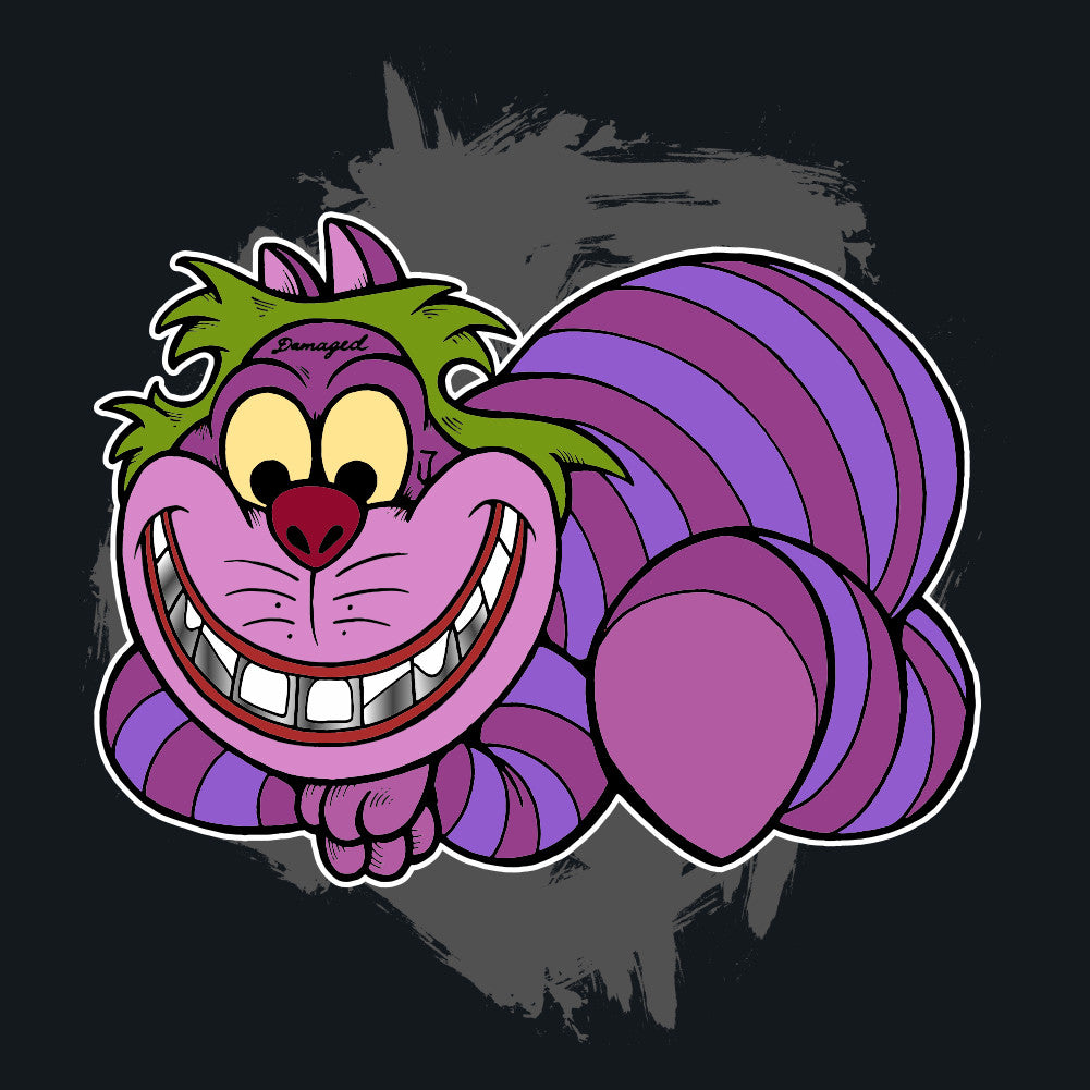 Cheshire Cat as The Joker Unisex T-Shirt