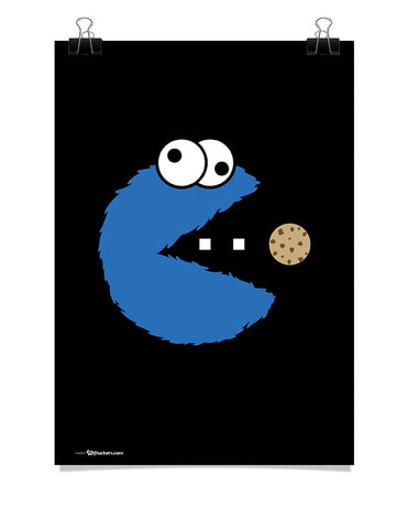Cookie Monster Pac-Man Poster
