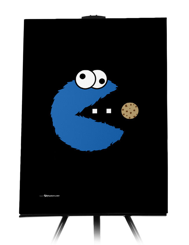 Canvas - Om Nom Nom Nom Cookie Monster Version  - 1