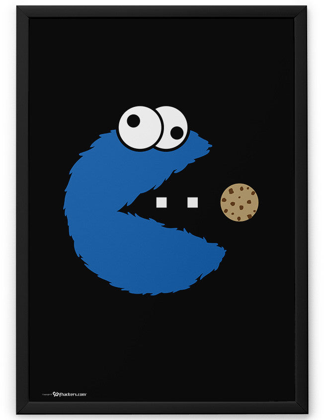 Poster - Om Nom Nom Nom Cookie Monster Version  - 2