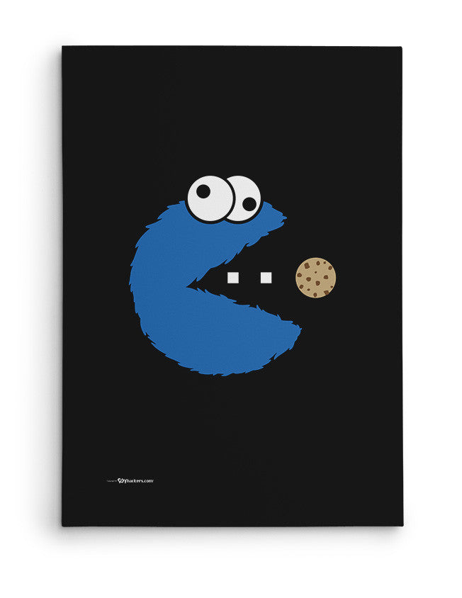 Canvas - Om Nom Nom Nom Cookie Monster Version  - 2