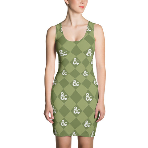D&D Green Pattern Dress by Sexy Hackers
