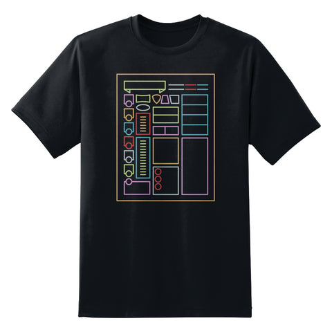 D&D Character Sheet Men's Unisex T-Shirt by Sexy Hackers