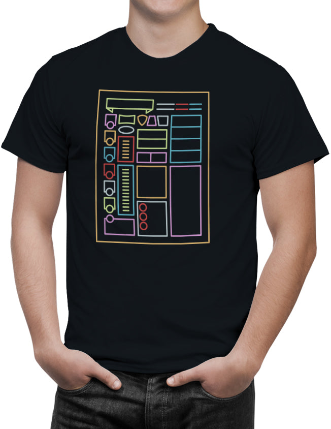 RPG Character Sheet Men's Unisex T-Shirt by Sexy Hackers