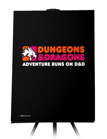 Dunkin' Dragons Canvas