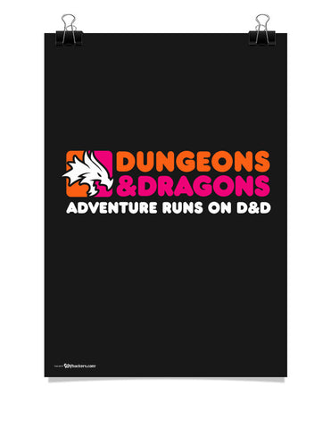 Dunkin' Dragons Poster