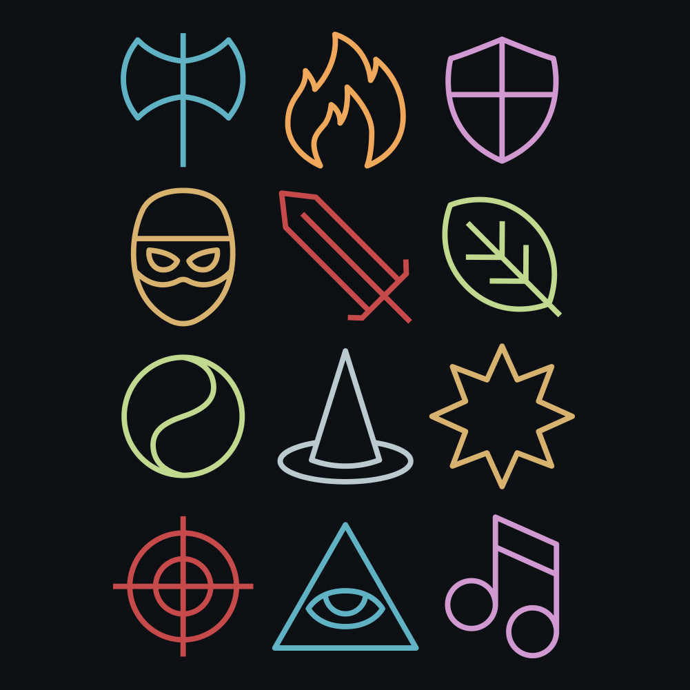 Fantasy Class Icons Unisex T-Shirt by Sexy Hackers