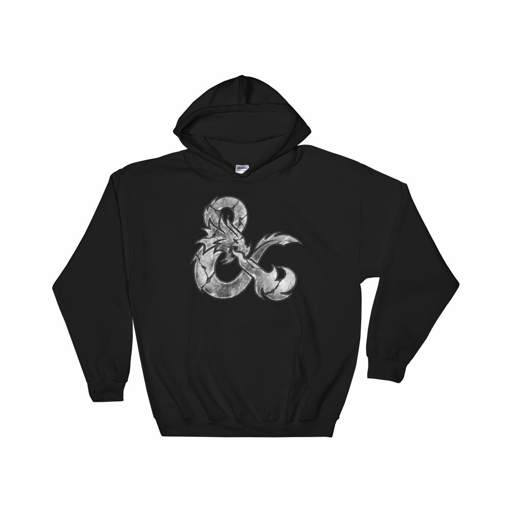 D&D Worn Metal Logo Hoodie by Sexy Hackers