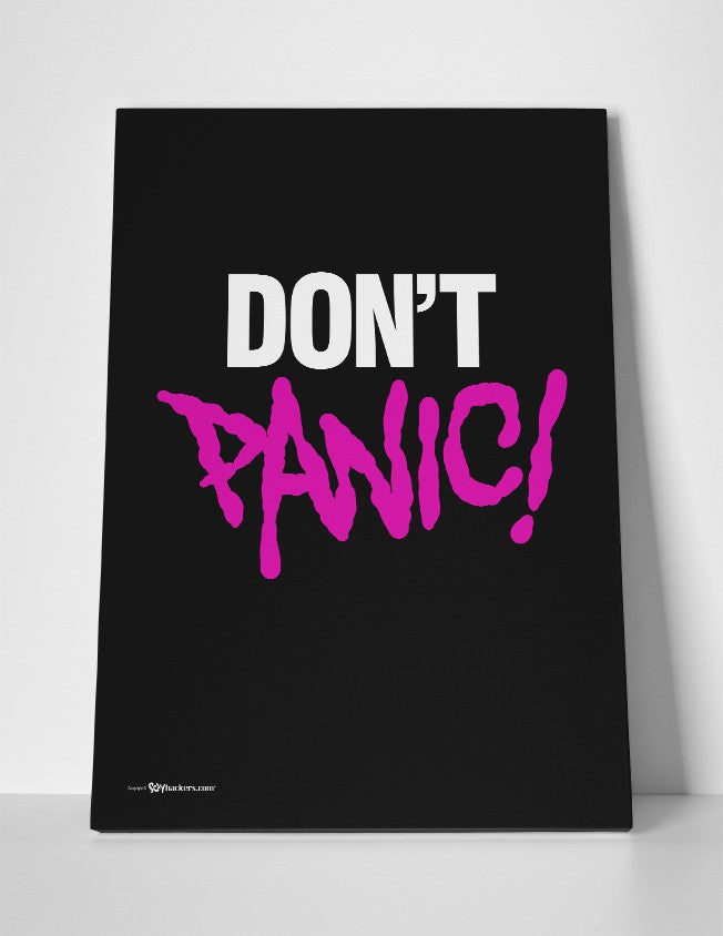 Don't Panic Canvas