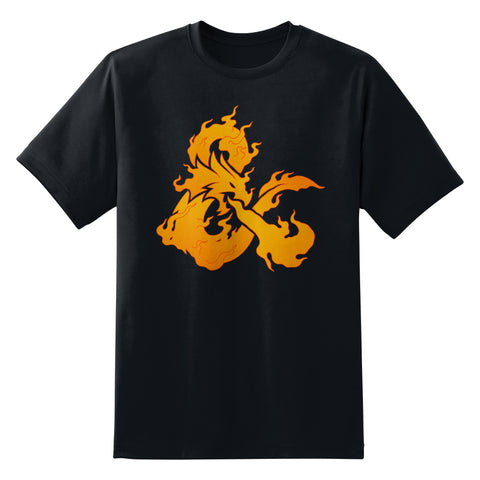 D&D Fire Logo Men's Unisex T-Shirt by Sexy Hackers